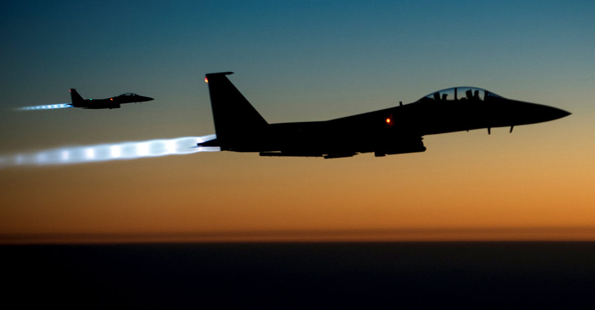 US Air Force F-15E Strike Eagles over Iraq