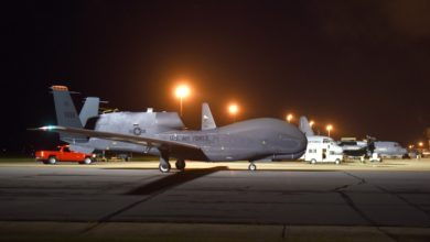 an RQ-4 Global Hawk drone
