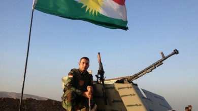An Iraqi Kurdistan Peshmerga fighter.