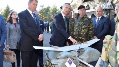 NATO Secretary General Jens Stoltenberg and Romanian president Klaus Iohannis