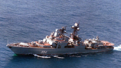 The Russian Navy destroyer Admiral Vinogradov
