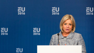 Former Dutch minister of Defense Jeanine Hennis-Plasschaert