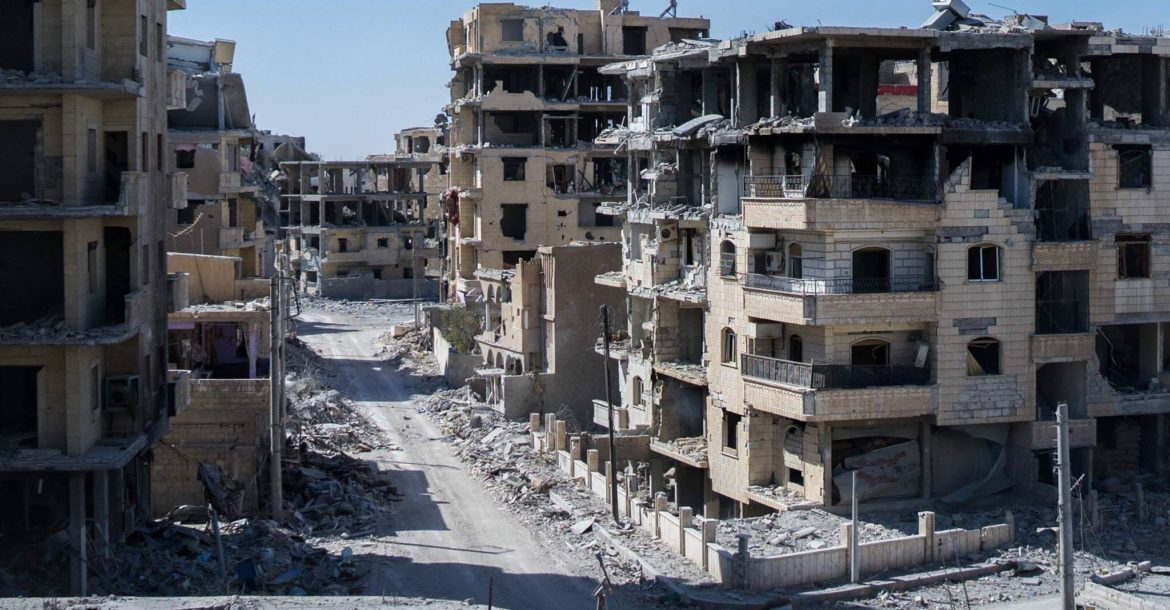 Raqqa destruction