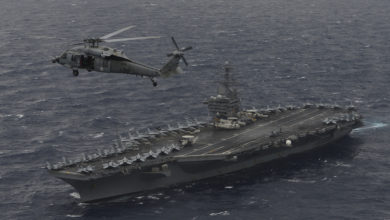 USS Nimitz during exercises with the Indian Navy and Japan Maritime Self-Defense Force in the Bay of Bengal, July 2017