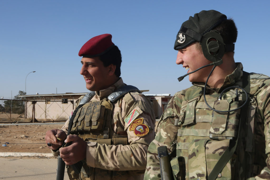 British trainer at Al Asad Airbase, Iraq
