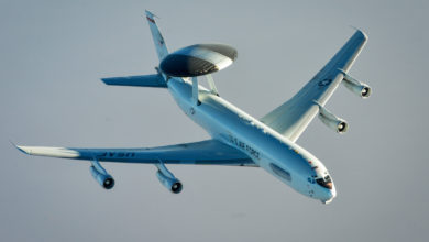 US Air Force E-3 Sentry AWACS aircraft