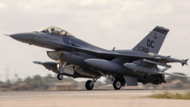 F-16C aircraft that crashed on April 5, 2017