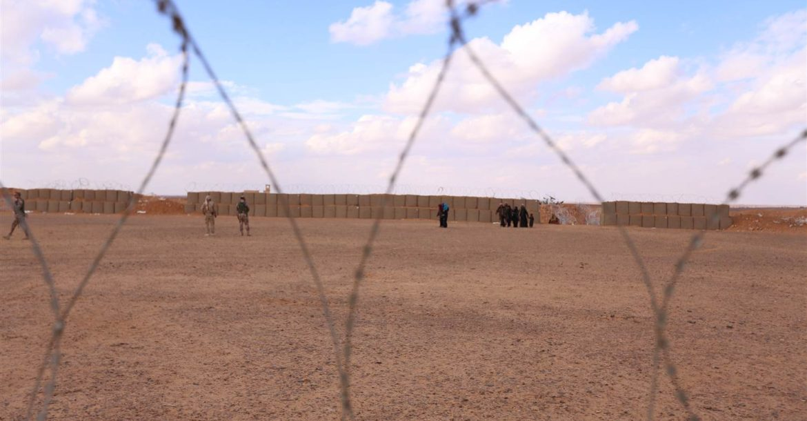 Women and children living in the Rukban camp along the Syria-Jordan border in 2016.