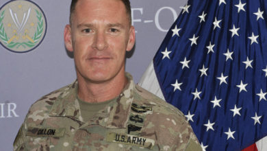 Coalition spokesman Col. Ryan Dillon