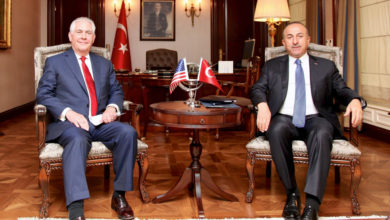 US Secretary of State Rex Tillerson meets Turkish foreign minister Mevlüt Çavuşoğlu