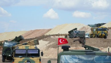 Turkish military vehicles in Idlib, Syria