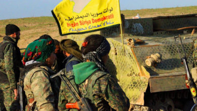 YPG and YPJ fighters under the SDF flag