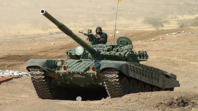 Indian Army T-72 main battle tank