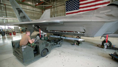 AIM-120D loaded on an F-22A Raptor