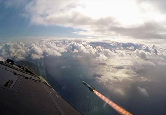Brimstone 2 missile launched from a Eurofighter Typhoon