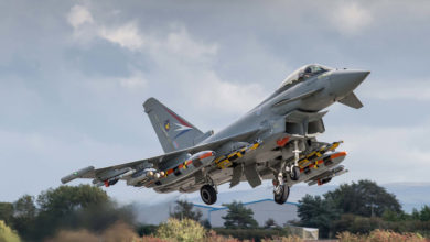 Eurofighter Typhoon carrying Brimstone 2 missiles