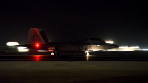 F-22 Raptor takes off for new Aghanistan offensive