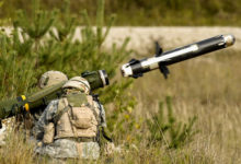FGM-148 Javelin anti-tank guided missile launch
