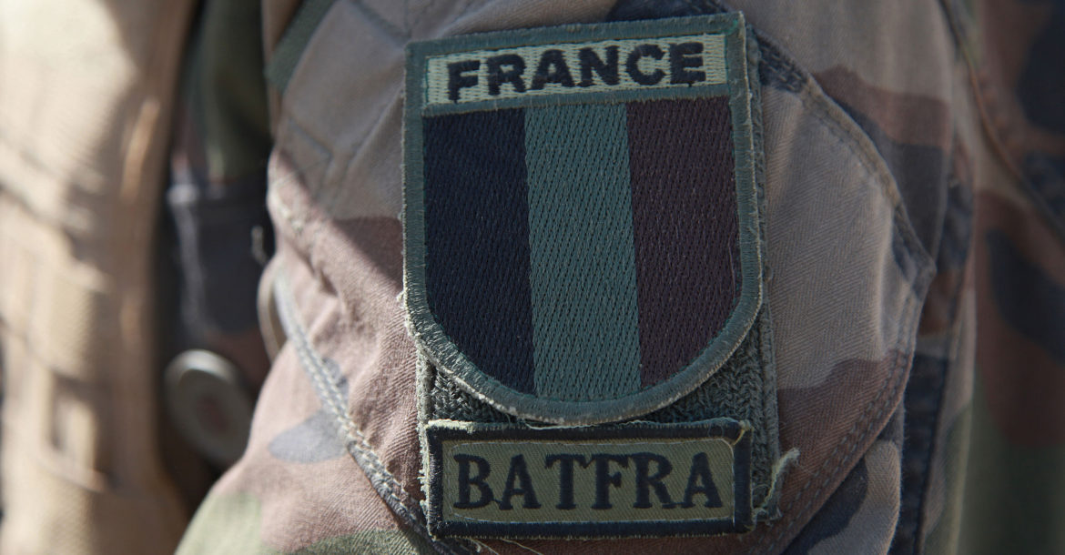 France military patch BATFRA Afghanistan