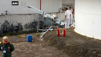 India Navy Searcher drone crash Kochi