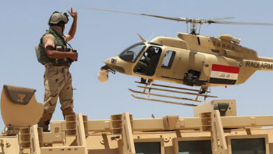 Iraqi army helicopter