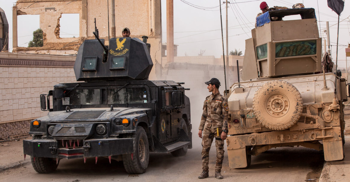 Iraqi security forces near Al Qaim, Iraq