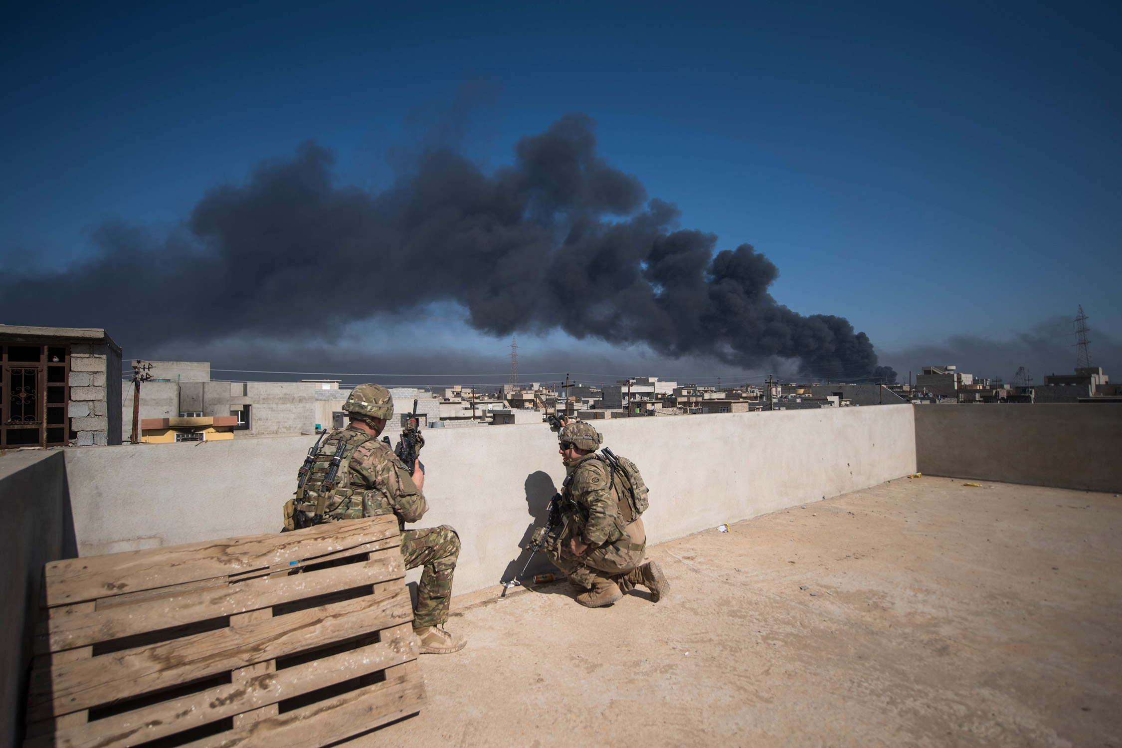 US Army soldiers in Mosul Iraq