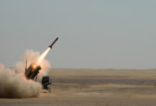 Patriot missile launch