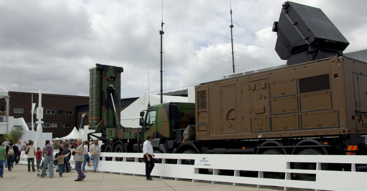 SAMP-T launcher and Aster missile air defense system
