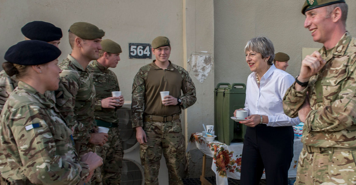 British Prime Minister Theresa May in Iraq