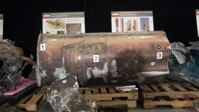 Numbers mark features that identify an Iranian Qiam-class ballistic missile section