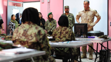 Afghan female soldiers train in Kabul