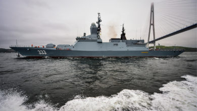 Russian corvette Sovershenny