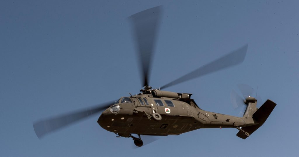 Afghan Air Force UH-60A Black Hawk helicopter