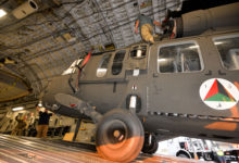 US delivers UH-60 Balck Hawk to Afghan Air Force
