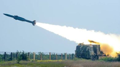 India's Akash missile launch