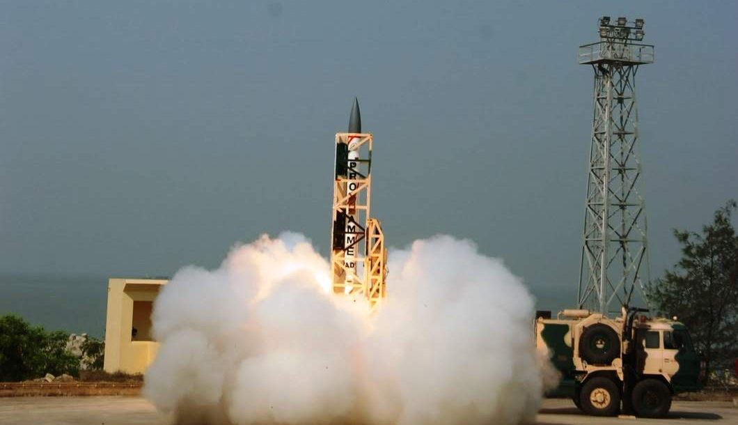India's Advanced Air Defence missile system test launch
