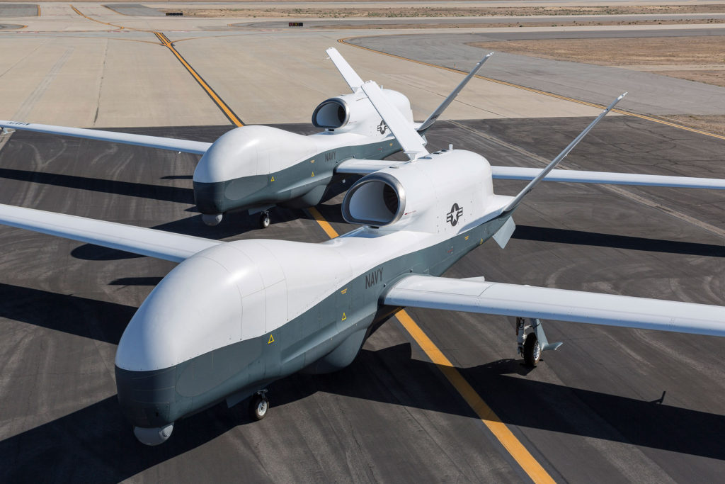 Northrop Grumman MQ-4C Triton unmanned aerial vehicles