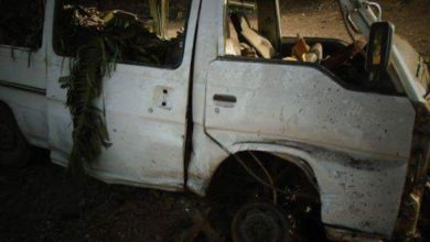Minibus said to be hit by a US airstrike near Mogadishu, Somalia