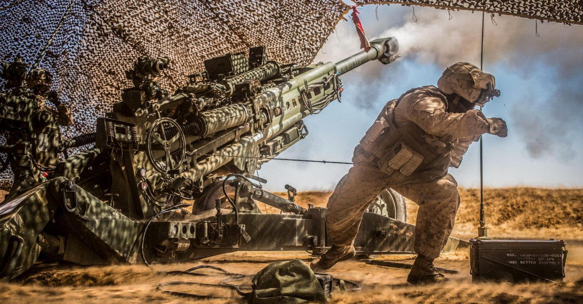 Us marine corps artillery battalion of more than 400 for Syria war template