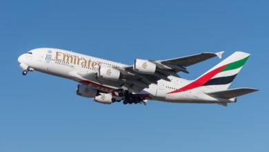 UAE Emirates Airbus A380 plane