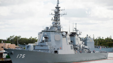 AEGIS-equipped Japan Maritime Self-Defense destroyer JMSDF Myoko