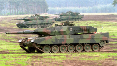 German Leopard 2 tanks