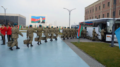 Azerbaijani troops deploy to Afghanistan