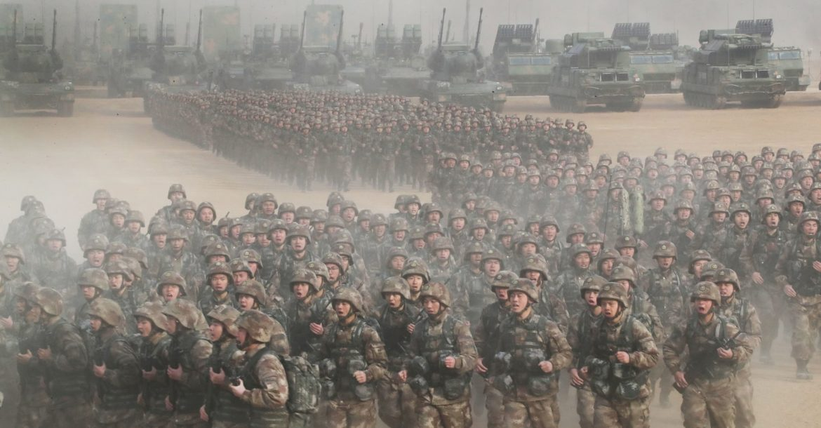China's People's Liberation Army troops