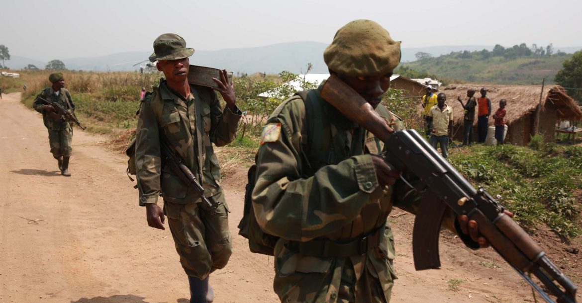 Democratic Republic of Congo soldiers