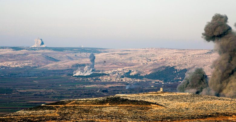 Bombs hit Efrin, Syria