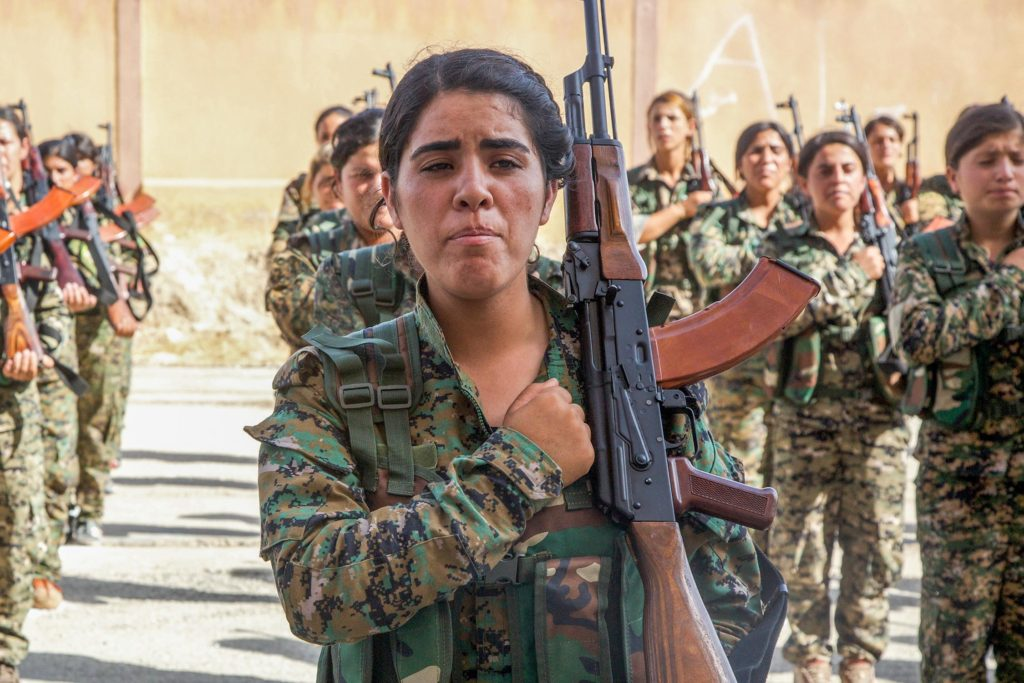 SDF trainees in a graduation ceremony