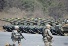 US troops participate in the Foal Eagle exercise in South Korea