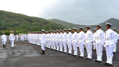 Indian Navy honor guard parade